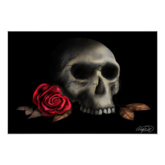 """Poster print """"deathly beautiful"""" by Angie Muller"""