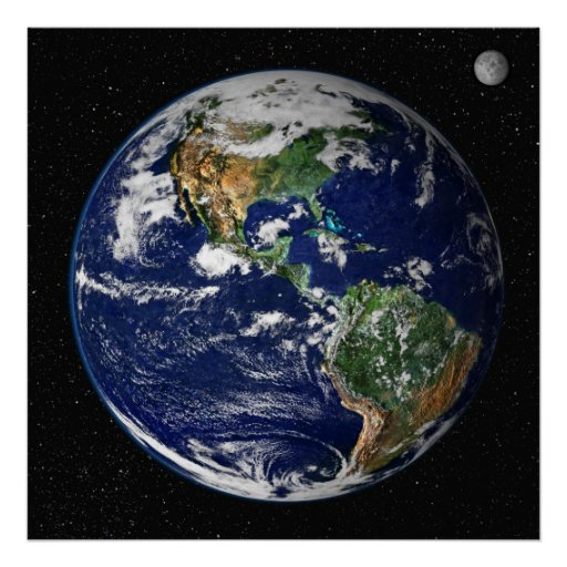 Poster/Print:   Earth from Space - NASA Poster