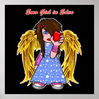 Poster/Print:  Emo Girl in Eden