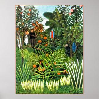 Poster/Print: Exotic Landscape  (Paysage Exotique) Poster