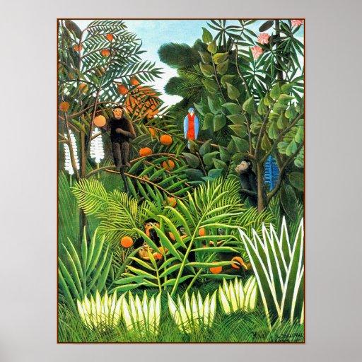Poster print exotic landscape paysage exotique poster zazzle - Poster muurschildering paysage ...