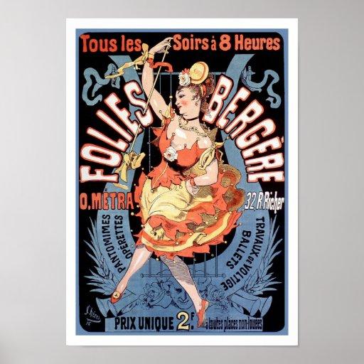 Poster/Print: Folies Bergere - Cheret Poster