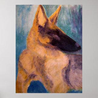Poster Print - German Shepherd Dog Art