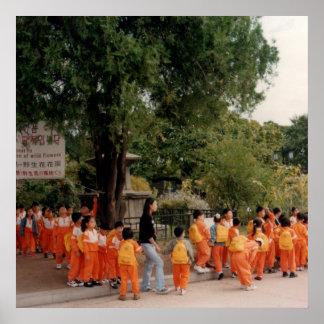 poster print huge orange kids asia korea kinder