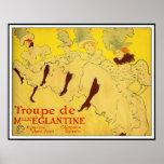 Poster/Print: Lautrec - Troupe de Mlle Eglantine