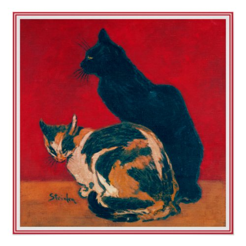 Poster/Print:  Les Chats by Theophile Steinlen posters