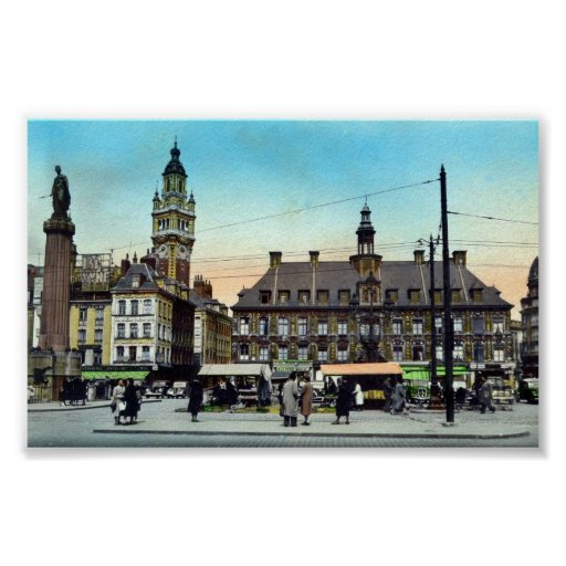 Poster/Print - Lille, France - La Bourse