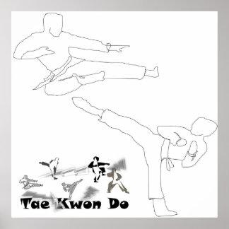 poster print martial arts kick do