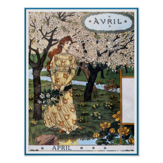 Poster/Print: Month of April - Avril
