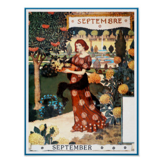 Poster/Print: Month of  September - Septembre Poster
