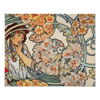 Poster/Print: Mucha - Language of Flowers II Poster