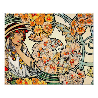 Poster/Print: Mucha - Language of Flowers II Poster