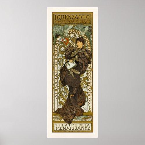 Poster/Print: Mucha - Lorenzaccio - Art Nouveau posters