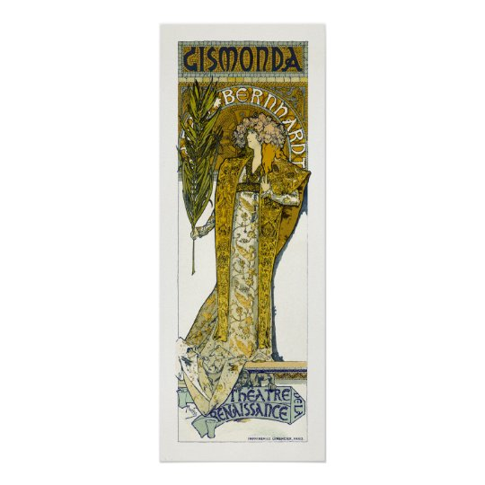 Poster/Print: Mucha - Sarah Bernhardt - Gismonda Poster