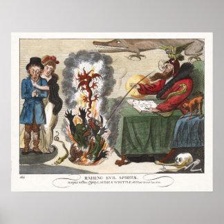 Poster/Print: Raising Evil Spirits - Caricature