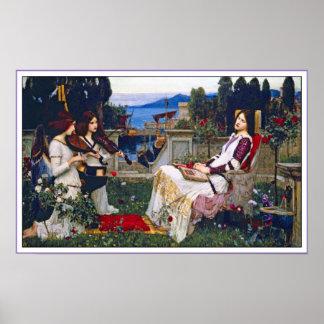 Poster Print:  Saint Cecilia - John Waterhouse