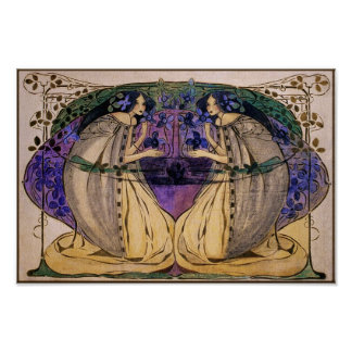 Poster Print Spring by Frances Macdonald