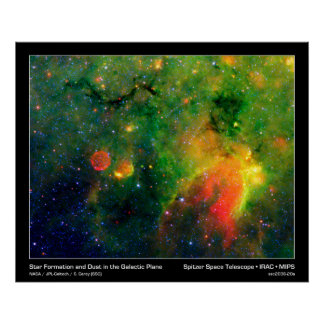 Poster Print Star Formation and Cosmic Dust