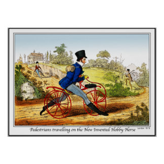 Poster/Print: The Hobby Horse:  Bicycle Prototype Poster