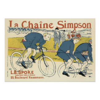 Poster/Print: Toulouse Lautrec  Bicycle Chain Ad Poster