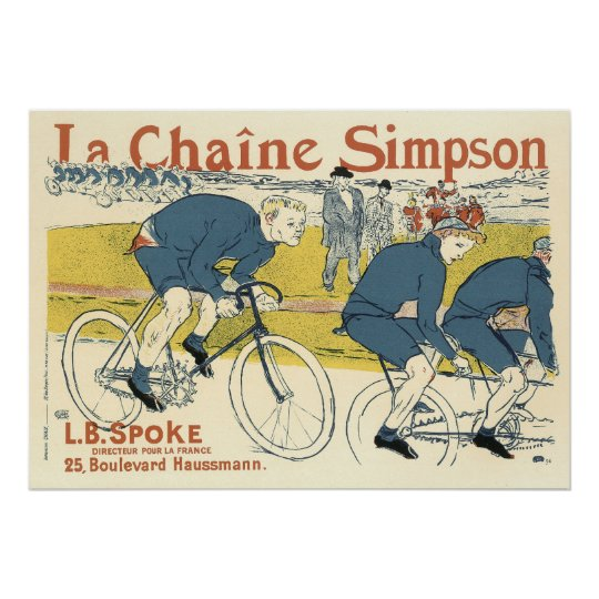 poster print toulouse lautrec bicycle chain ad poster. Black Bedroom Furniture Sets. Home Design Ideas
