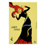 Poster/Print:  Toulouse Lautrec - Jane Avril