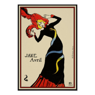 Poster/Print:  Toulouse Lautrec - Jane Avril Poster