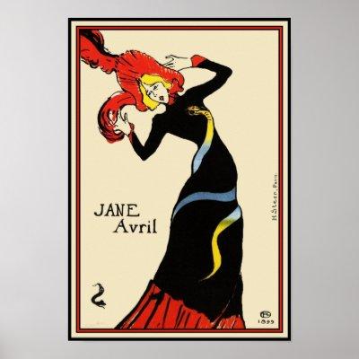 Jane Avril Dancing - Henri de Toulouse-Lautrec Poster | Zazzle