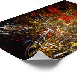 poster print Tribal sword phoenix
