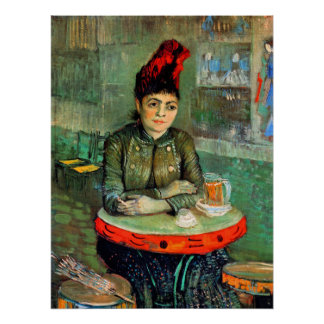 Poster/Print: Van Gogh - Woman in Cafe
