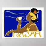 Poster/Print: Vintage Rajah Coffee