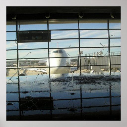 poster print water detriot airport