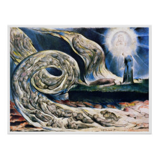 "Poster Print: ""Whirlwind of Lovers"" by W. Blake"