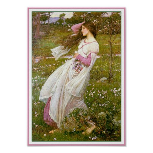 Poster/Print: Windflowers - by John Waterhouse