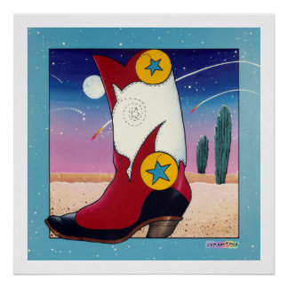 Poster, Prints - Cowboy Boot, All Dressed Up