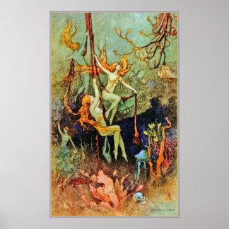 Poster/Prints: Fairy Mermaids - Warwick Goble