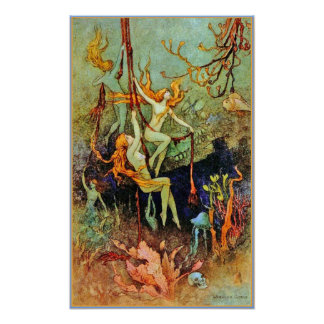 Poster/Prints: Fairy Mermaids - Warwick Goble Poster