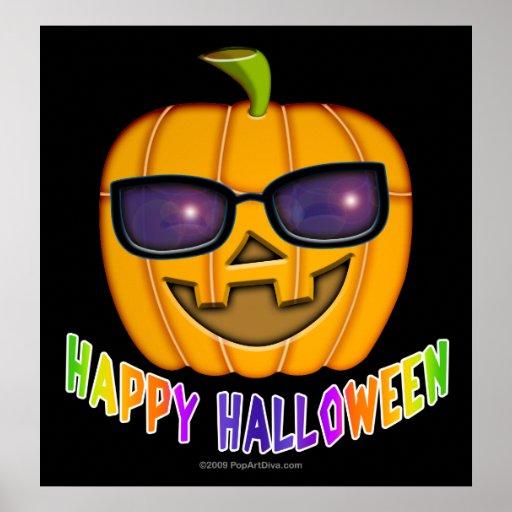Poster, Prints - Halloween Jack O Lantern Pumpkin