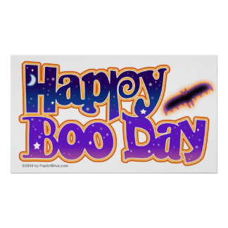 Poster, Prints - HAPPY BOO DAY - Halloween