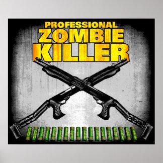 Poster profesional del asesino del zombi