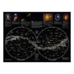 Poster profundo de la carta de estrella del cielo