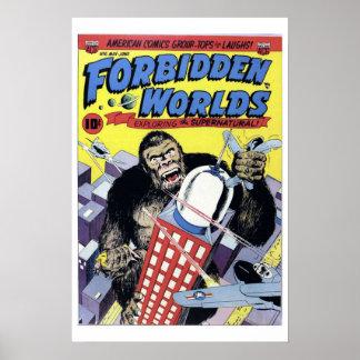 Poster prohibido de la cubierta de cómic del vinta