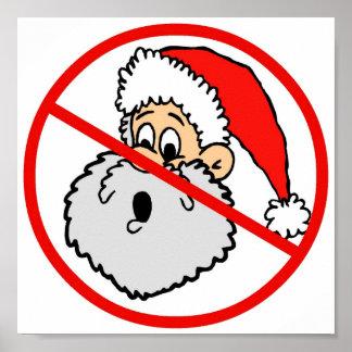 Poster prohibido de Santa Póster