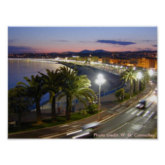 "Poster /  ""Promenade des Anglais"" in Nice,"