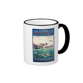 Poster promocional cancelado del avión del taza de dos colores