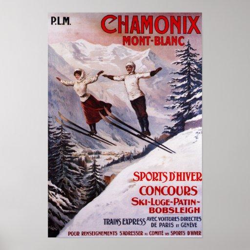 Poster promocional de esquí