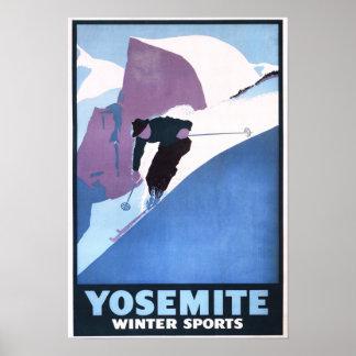 Poster promocional de esquí de los deportes de inv