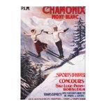 Poster promocional de esquí lona envuelta para galerias