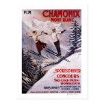 Poster promocional de esquí postales
