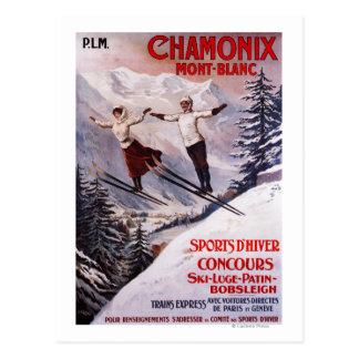 Poster promocional de esquí postal